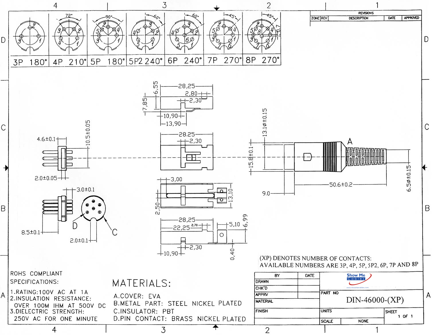 8 Pin Din Male Solder Connector Plastic 270 Style Diagram Further Pinout On 9 Click Here To Download The Spec Sheet
