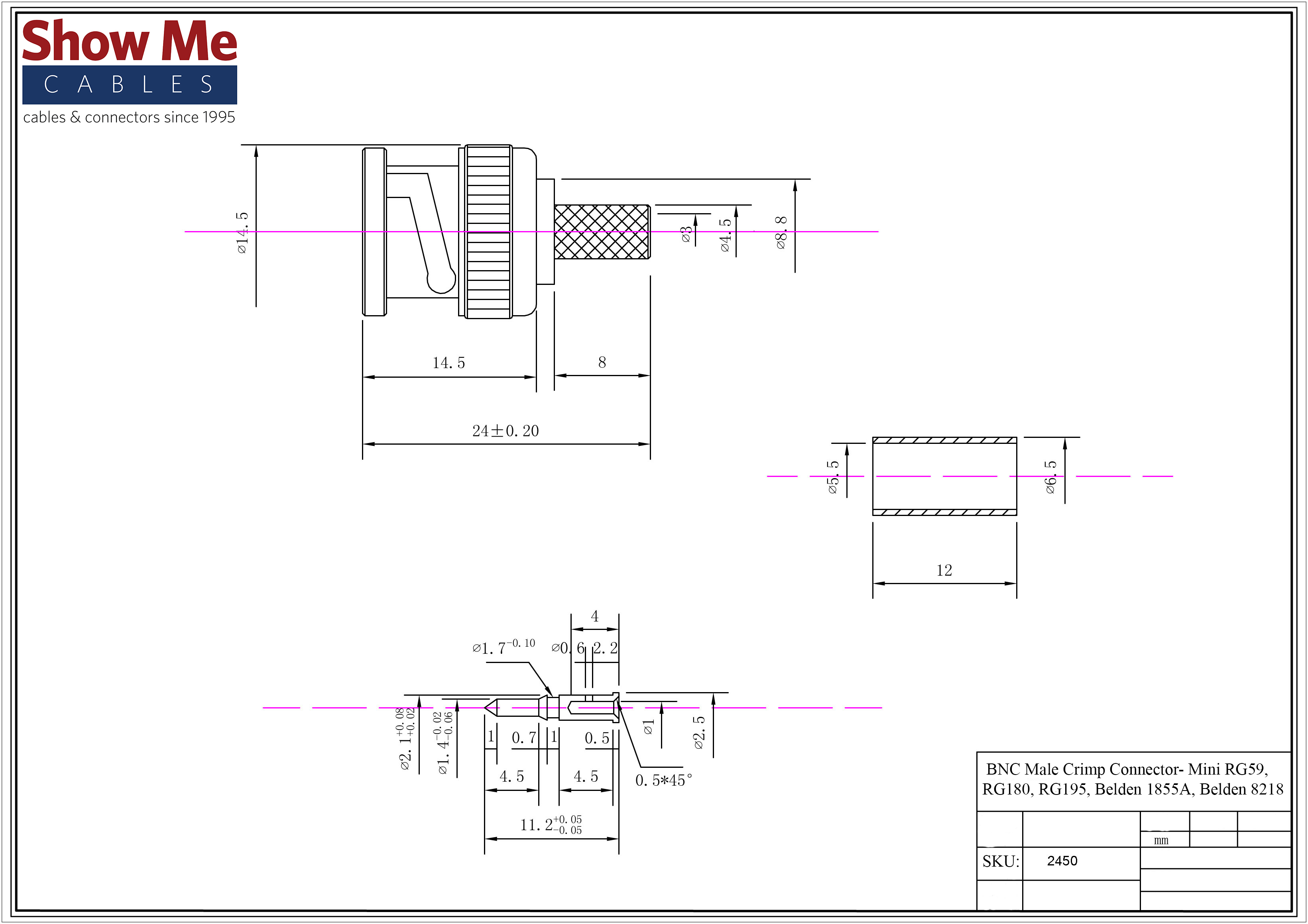 3 Piece Crimp Deluxe Bnc Connector Wiring Diagram Click Here To Download The Spec Sheet