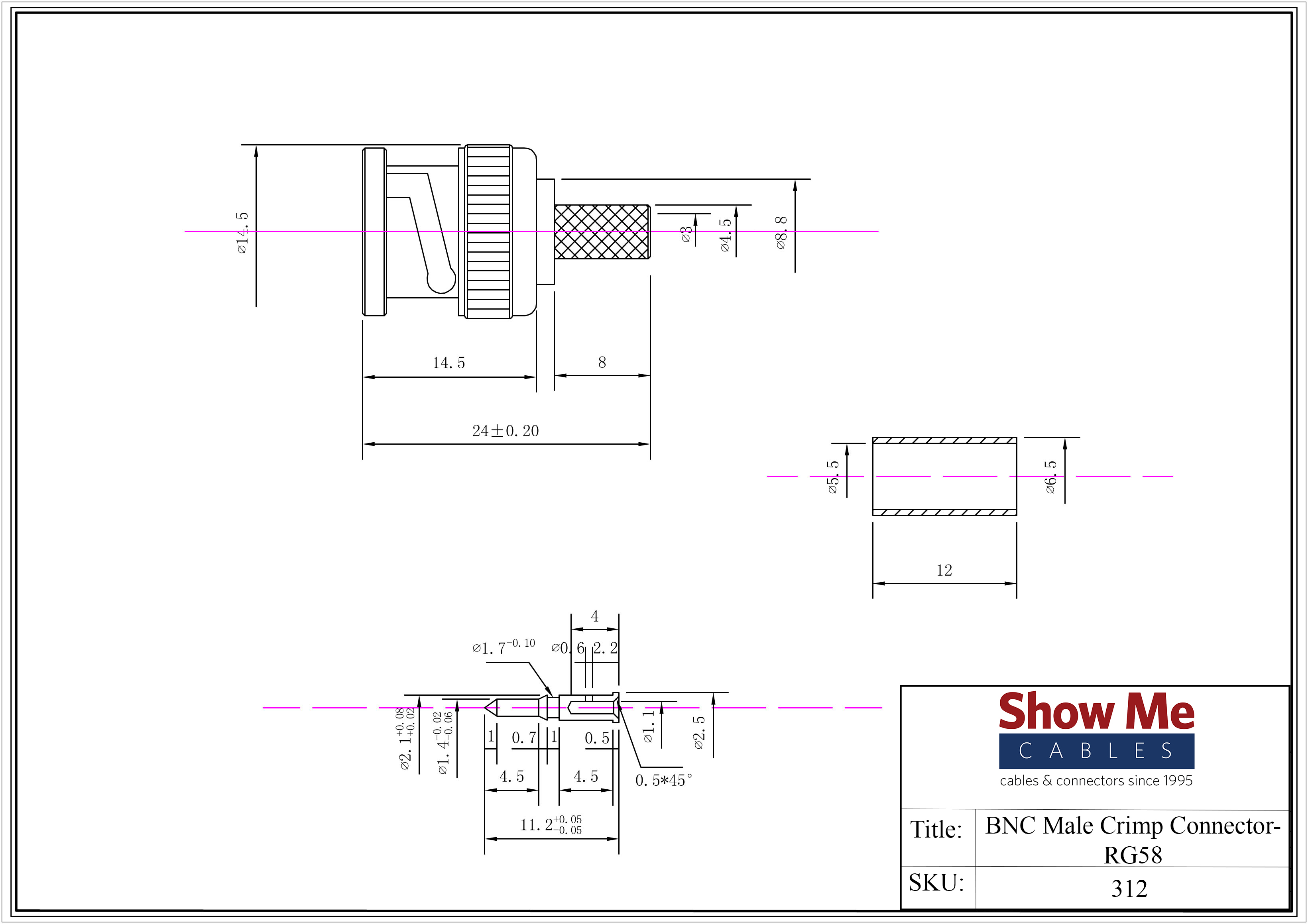 Bnc Male Crimp Connector Rg58 Wiring Diagram Click Here To Download The Spec Sheet