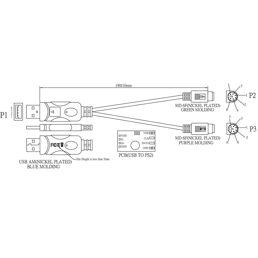 Usb To Ps2 Wiring Diagram Controller Keyboard Download Image Ps 2 Adapter Pc Converter
